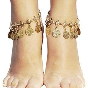 Jewelry - Retro Boho Tribal Gypsy Coin Anklet Ankle Bracelet